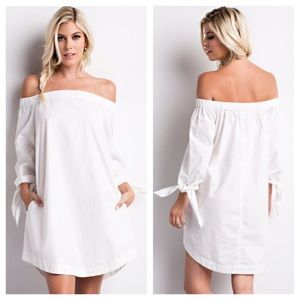 clmayfae Dresses & Skirts - White Off Shoulder Dress