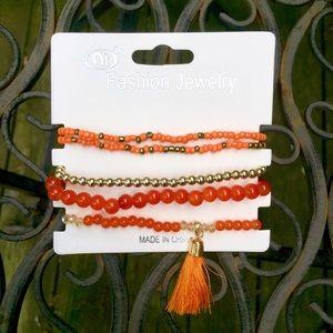 Jewelry - Tassel Bracelet in Orange