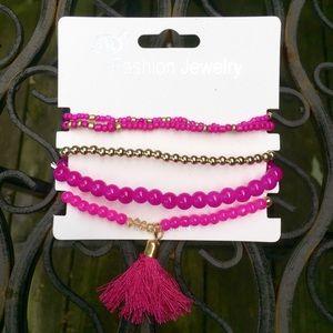 Jewelry - Tassel Bracelet in Pink
