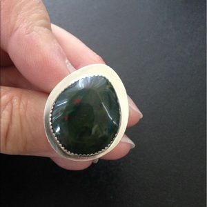 Handmade by Me Jewelry - 18.5 Ct Bloodstone Ring Handmade