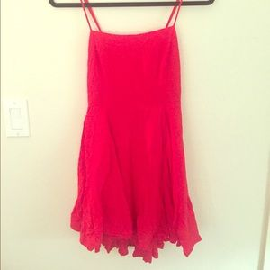 Flowy red mini dress
