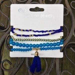 Jewelry - Tassel Bracelet in Cobalt Blue