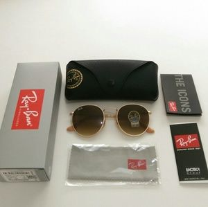 Ray-Ban Accessories - Authentic Brown Gradient Ray Ban Round Metal