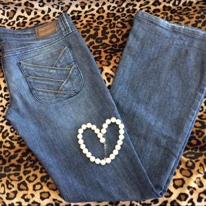 Frankie B. Denim - Frankie b. zipper detail low rise flare jeans