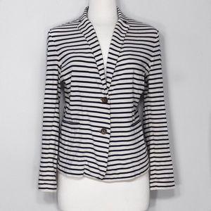J. Crew Jackets & Blazers - ❗️LAST CALL❗️J. Crew Ivory Striped Cotton Blazer