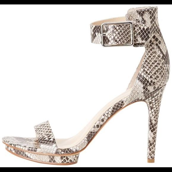 7a43a6b21ebe Calvin Klein Vivian Python Print Platform Sandal