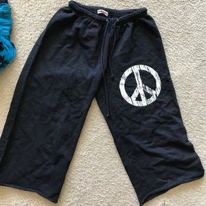 Peace Drawstring Sweatpants - Medium - Boutique