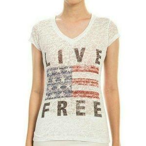 """Threadzwear Tops - """"LIVE FREE"""" TEE"""