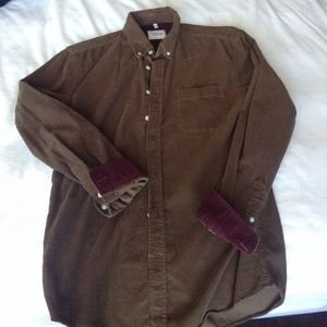 Frank & Oak Other - Brown corduroy button down
