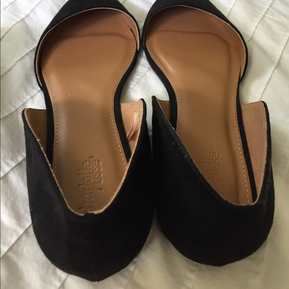 58 off charlotte russe shoes brand new black velvet point toe flats from krissy 39 s closet. Black Bedroom Furniture Sets. Home Design Ideas