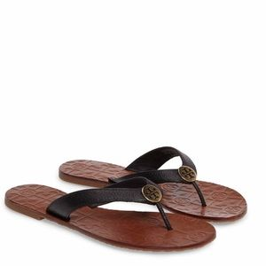 Tory Burch Shoes - Tory Burch Black Leather Sandals