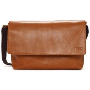 Jack Spade Handbags - Jack Spade Mill Leather Messenger Bag in Brown