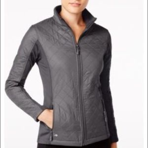 Ideology Jackets & Blazers - Ideology Colorblocked Quilted Jacket Gray Small