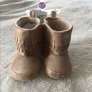 Carter's Other - Carter's gold baby moccasins
