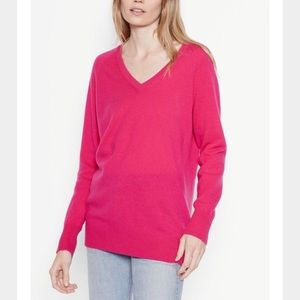 Equipment XS Asher V neck Cashmere sweater PINK