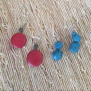 Jewelry - Set of 2 Stone Earrings