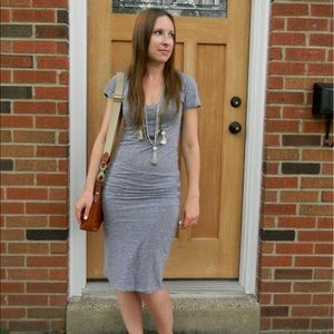 Monrow Dresses & Skirts - Monrow    Gray Cotton T-Shirt Maxi Dress