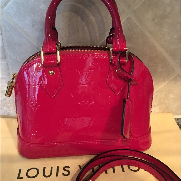 1a9942928ba8 Louis Vuitton Handbags - Authentic Louis Vuitton Vernis ALma BB Rose Indien