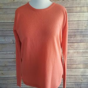 Sweet Romeo Sweaters - NWT Deep Sea Coral Laser Cut Sweater XL