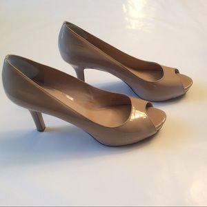 Via Spiga Shoes - Nude Patent Leather Pump