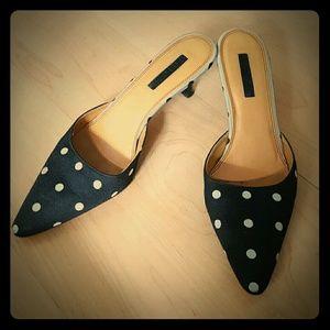UNISA Polka Dot Low Heels