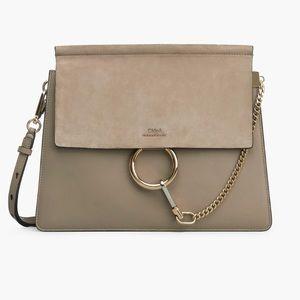 Brand New Chloe Faye bag (Medium) in Gray