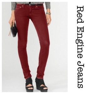 Red Engine Denim - Red Engine Jeans Cayenne Low Rise Skinny Red 28