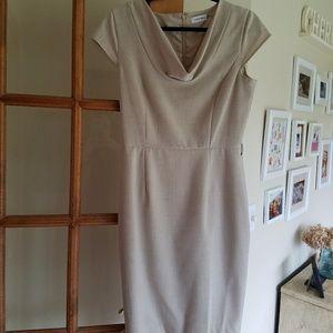 Calvin Klein beige professional work dress