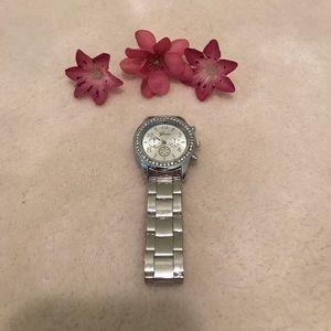 Geneva Platinum Accessories - Geneva Sterling Silver watch