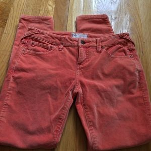 Free People Pants - Free People Orange Velvety Skinny Pants