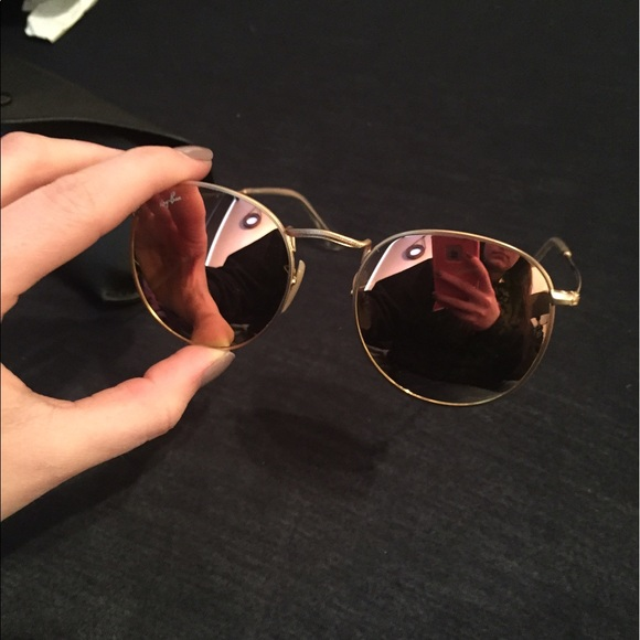 5a6df45d8ba Ray Bans Round Metal Mirror Pink