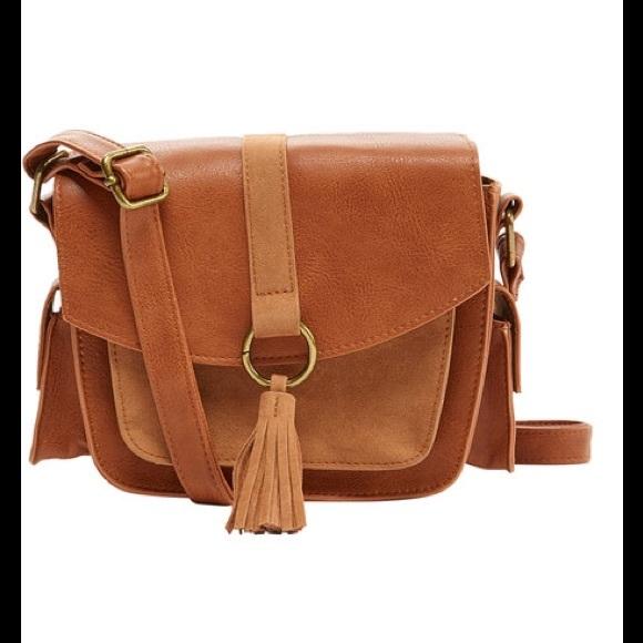 f69962a22a Cognac Tassel-Accent Crossbody Bag