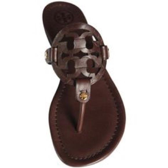 f6cd4d760 Chocolate brown miller Tory burch sandals. M 590a4af94127d02c47002d8a
