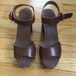 Forever 21 Ankle Strap Heels - Sandals