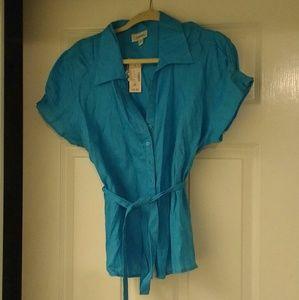 Dress Barn Tops - Dress Barn Linen Shirt NWT