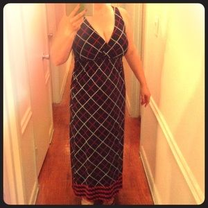 Tommy Hilfiger nautical red white blue maxi dress