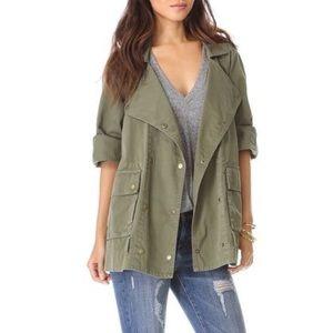 Olive Cocoon Utility Jacket