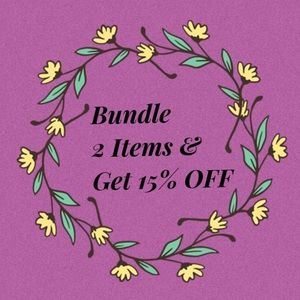 Bundle 2 items and get 15%OFF