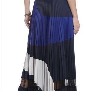 d65c062a93 BCBGMaxAzria Skirts | Bcbg Christy Colorblock Pleated Maxi Skirt ...