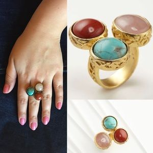 Amrita Singh Jewelry - AMRITA SINGH. Multicolor Turquoise Meknes Ring.