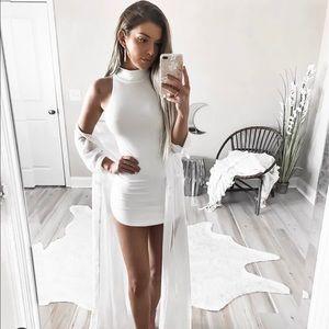 Dresses & Skirts - Ivory classic ribbed knit mock neck mini dress