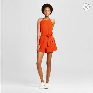 NWT Victoria Beckham for Target Orange Romper