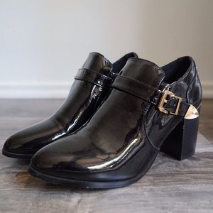 Shoes - Patent Leather Buckled Heels Made In Venice, Italy