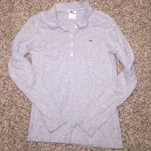 Lacoste long sleeve polo size s/m/40eur