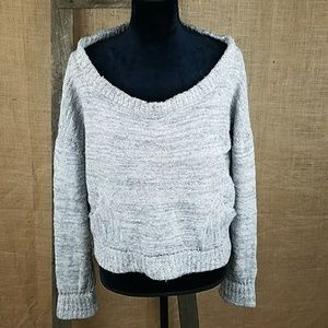 Free People women's M oversize knit crop top