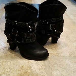 Not Rated Shoes - Black booties NWB