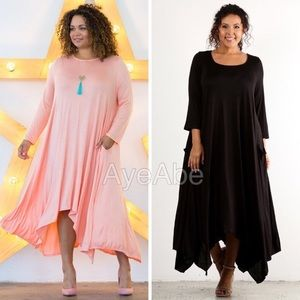 Dresses & Skirts - Plus size hi low asymmetrical hem maxi dress sexy