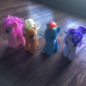 My Little Pony Other - My little Pony plush bundle of 4 ponies