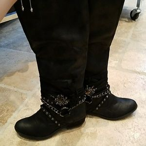 Not Rated Shoes - Black boots NWB