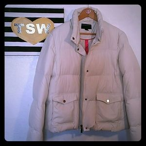 BERNARDO PUFFER GOOSE DOWN WHITE JACKET XL